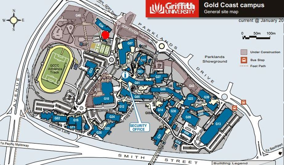 Griffith Gold Coast Map Griffith Gold Coast Map | Color 2018